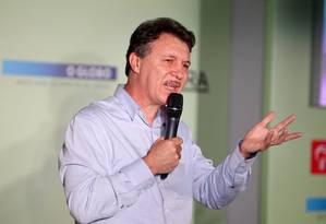 Rubén Magnano durante sua participação no seminário: 'O maior trabalho que tivemos foi recuperar a credibilidade' Foto: Ivo Gonzalez / Agência O Globo