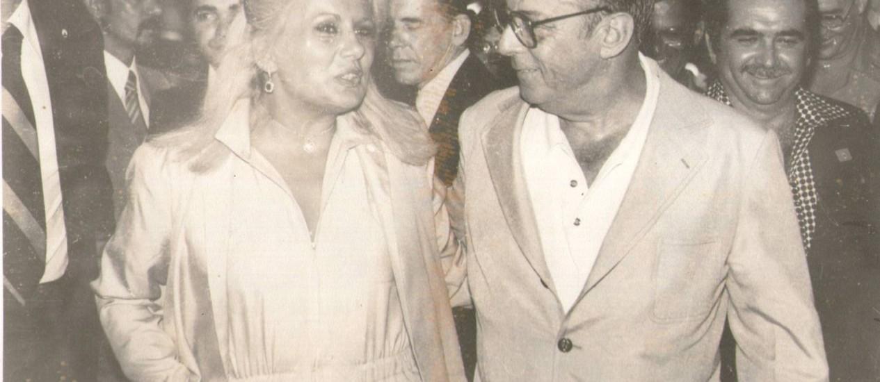 Destino . Myrian Abicair e o então presidente Figueiredo: romance teve início depois de encontro em festa Foto: Divulgação