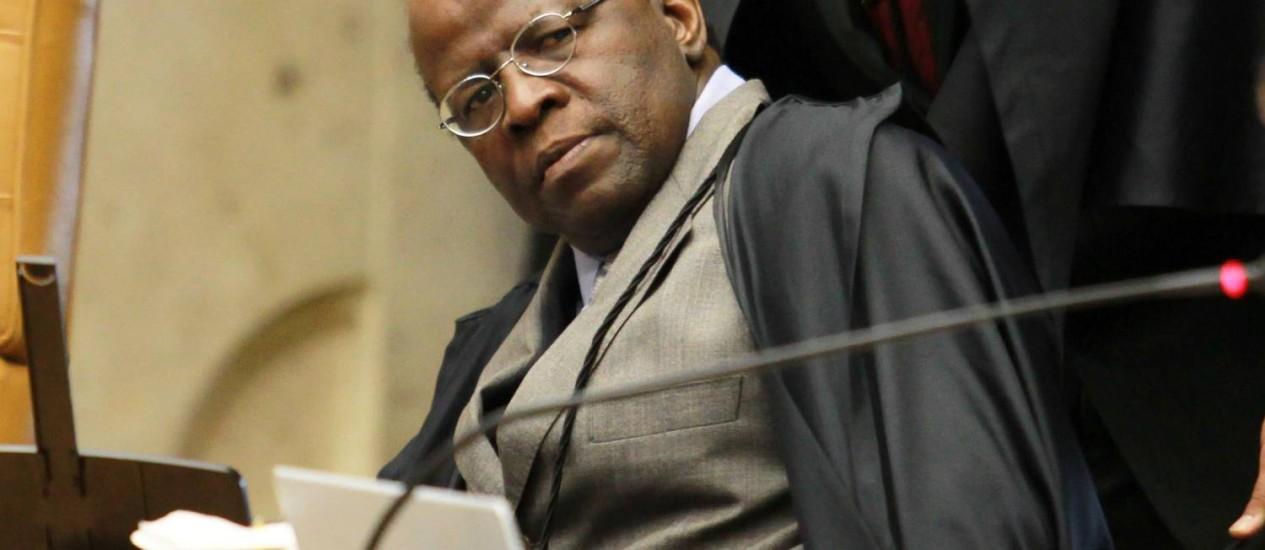 Joaquim Barbosa, presidente do STF Foto: Ailton de Freitas / Arquivo O Globo