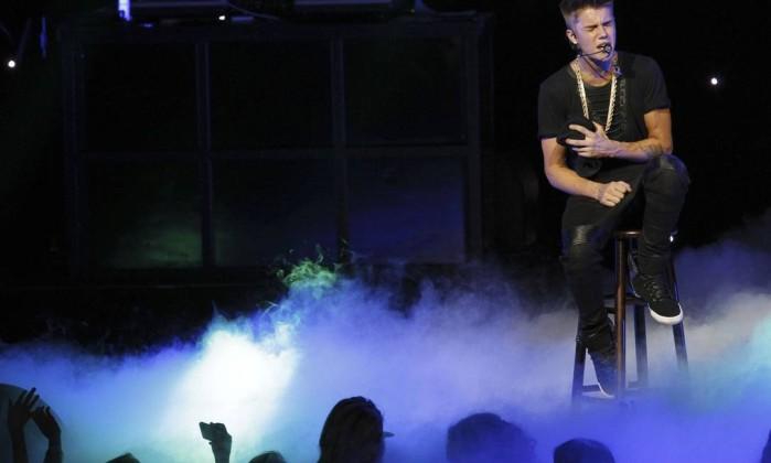 Bieber era a atração mais esperada na segunda noite do evento Reuters