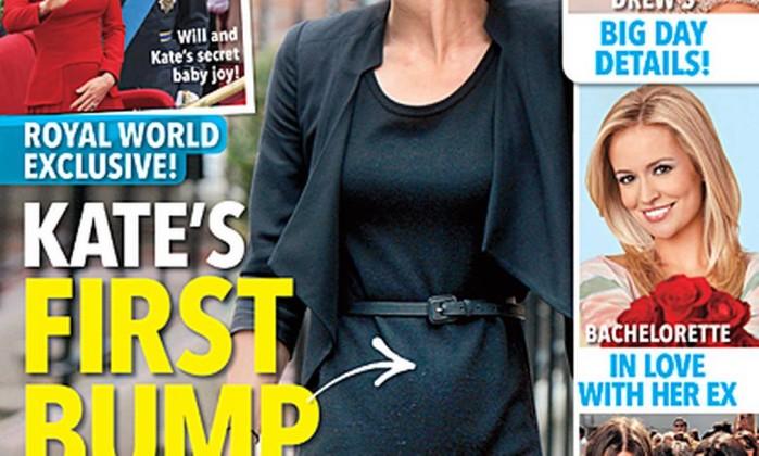 Em novembro, o tabloide publicou nova foto da mulher do príncipe William e deu a gravidez como certa Reprodução