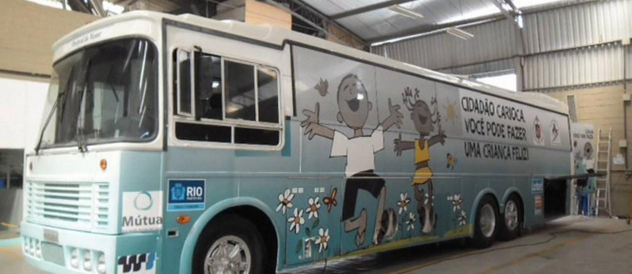 Depois da Jornada Mundial da Juventude, ônibus percorrerá a cidade oferecendo serviços de inclusão para crianças e jovens em situação de rua Foto: Divulgação