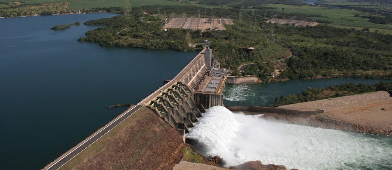 Usina hidrelétrica Jaguara, da Cemig Foto: Divulgação
