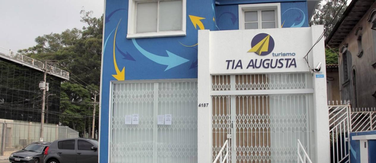 Fachada da Tia Augusta na Rua Brigadeiro Luís Antonio, São Paulo Foto: Eliaria Andrade / Agência O Globo
