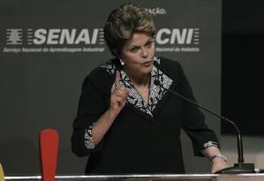 Dilma Rousseff durante Encontro Nacional da Indústria Foto: Reuters
