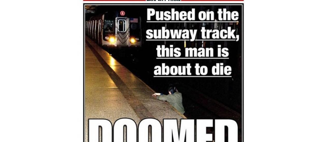 A capa polêmica do 'New York Post' Foto: Reprodução da internet