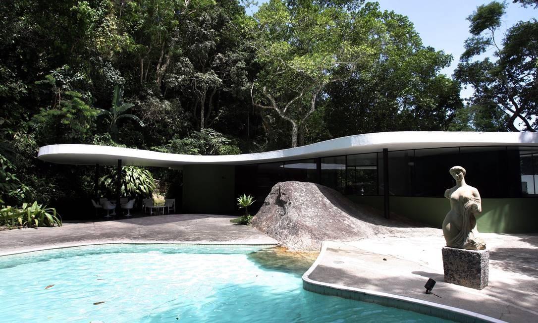 Casa das Canoas, em São Conrado Foto: Agência O Globo / Gabriel de Paiva