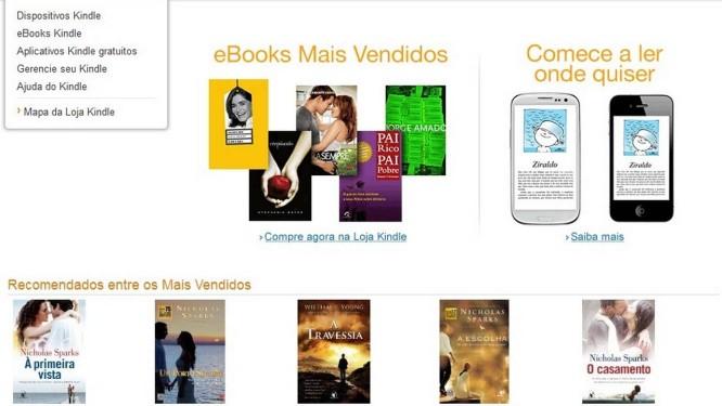 Página principal da Amazon.com.br: varejista negociava entrada no país há quase três anos Foto: Divulgação