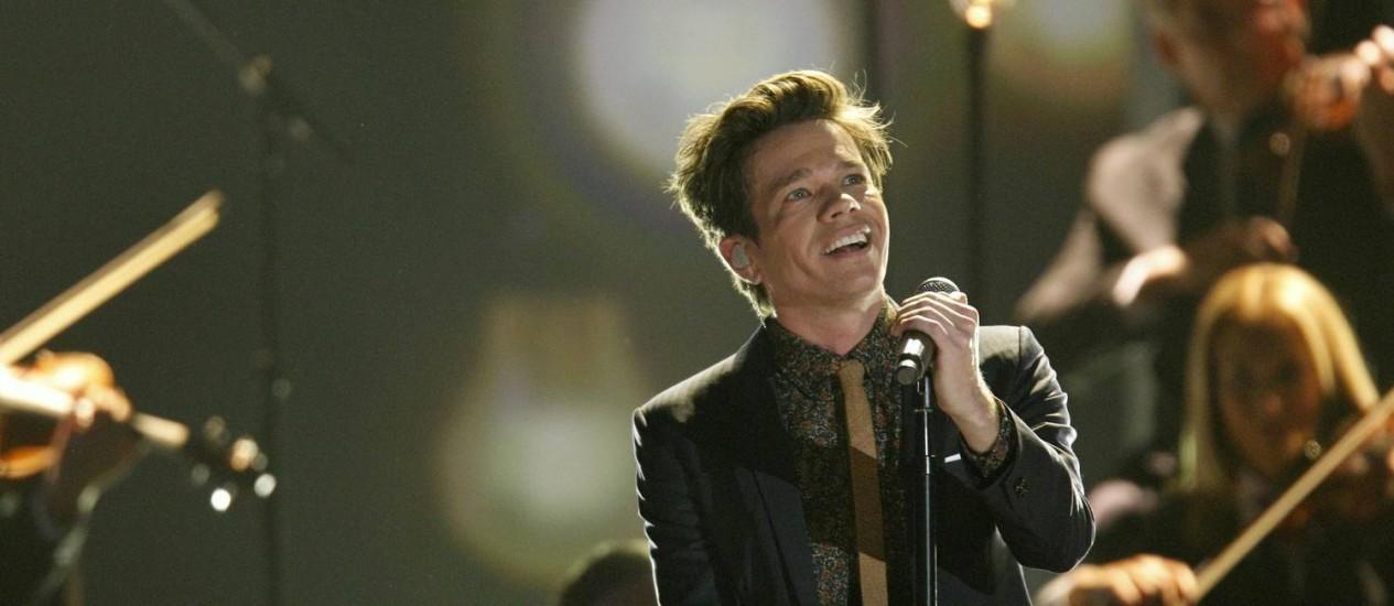 Indicado em seis categorias, o grupo fun. se apresenta em evento pré-Grammy Foto: Reuters