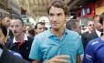 Roger Federer no Mercado Municipal de São Paulo: frutas, sanduíche e bolinho de bacalhau no cardápio
