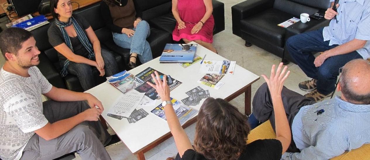 Professores da FAU/UFRJ debatem sobre a presença de Oscar Niemeyer no ensino da Arquitetura Foto: Flávio Tabak