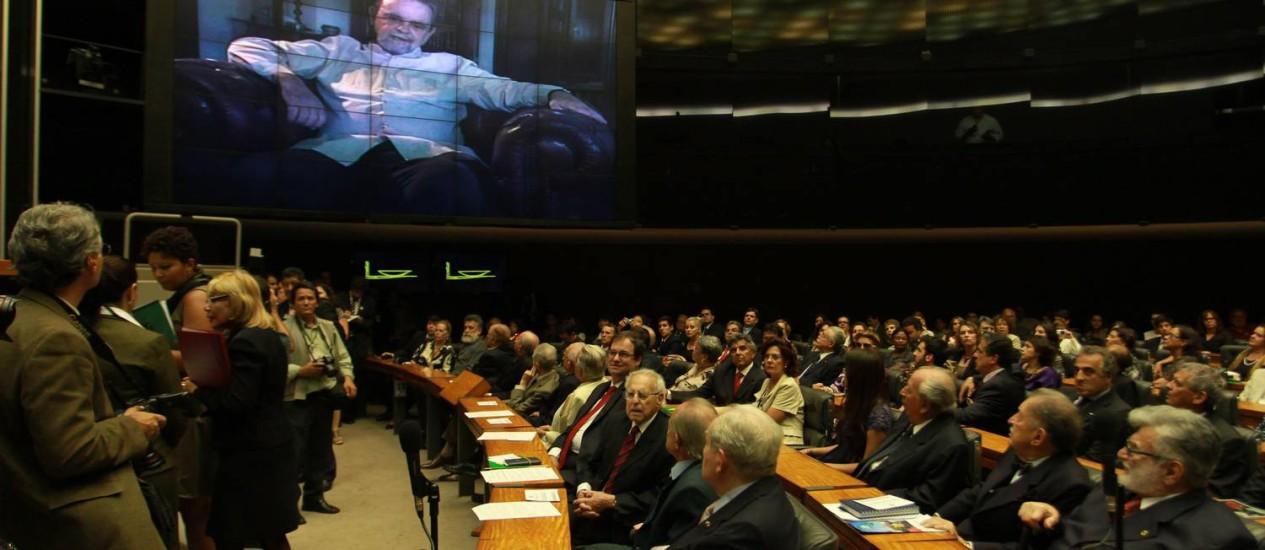 Sessão de homenagem e de devolução simbólica dos mandatos Foto: Agência O Globo / Ailton de Freitas