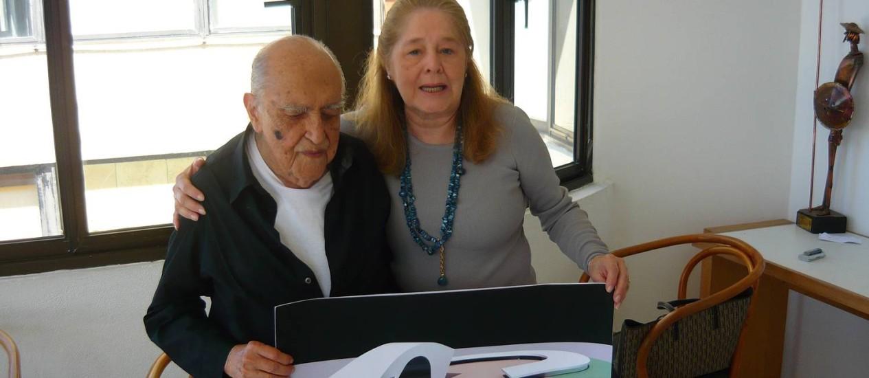 Oscar Niemeyer e Maria Estela Kubitschek Foto: Divulgação