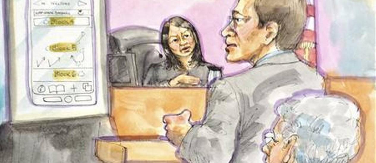 Simulação do julgamento Foto: Reuters