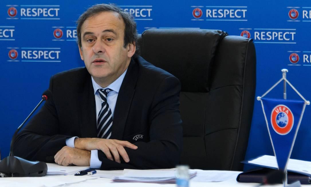 Presidente da Uefa, Platini votou na Copa do Mundo no Qatar Foto: Farice Coffrini / AFP