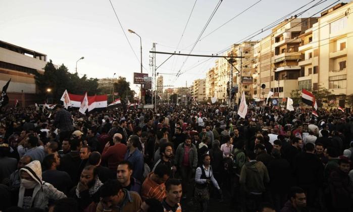 A oposição afirma que diálogo com o governo está engessado devido a imposições de Mursi AFP/GIANLUIGI GUERCIA
