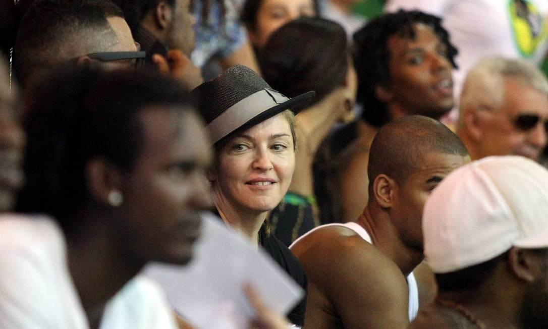 A rainha do pop parecia suportar bem o calor de 40 graus do Rio nesta sexta-feira Cezar Loureiro