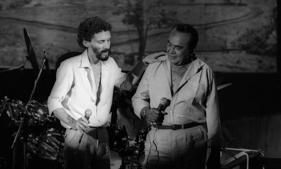 Luiz Gonzaga participa de Especial Gonzaguinha, para televisão, em 1981 Antonio Nery / Agência O Globo