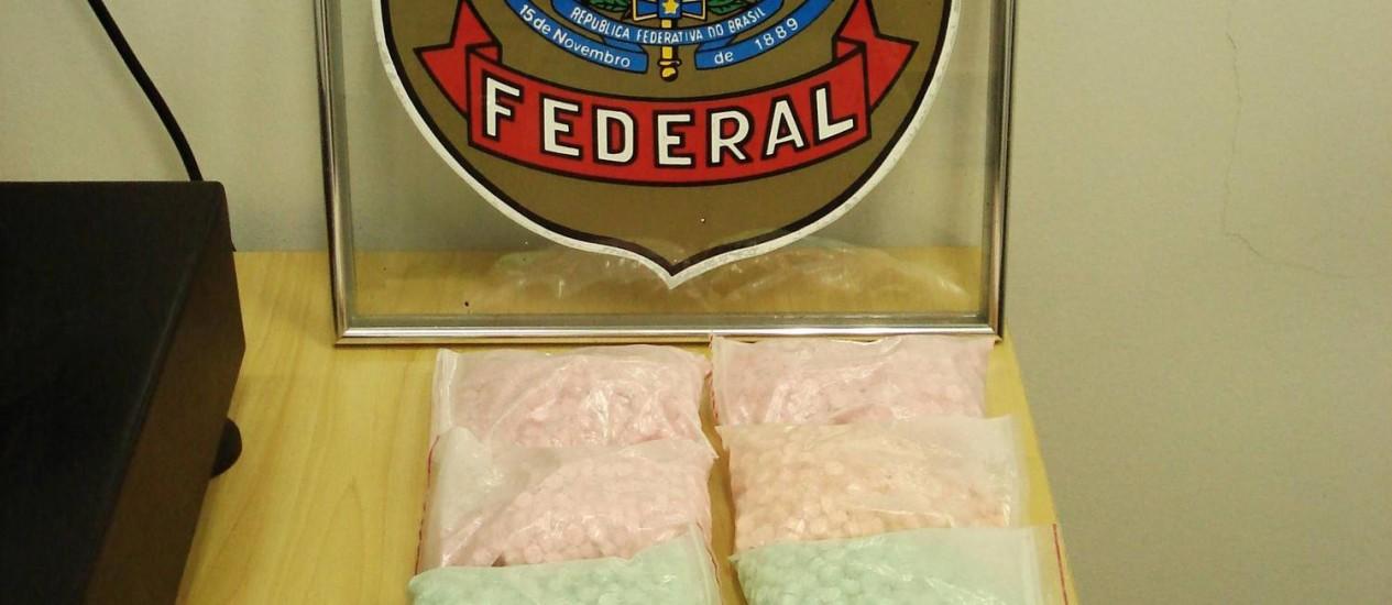 Comprimidos de ecstasy apreendidos pela PF Foto: Divulgação