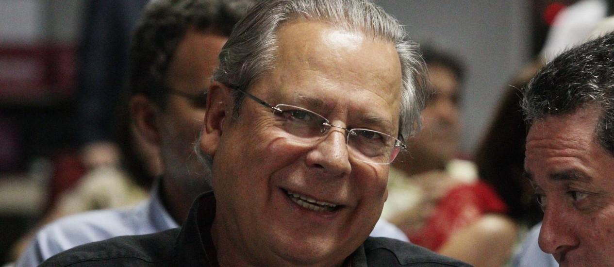 José Dirceu no Encontro do Diretório Nacional do PT, em Brasília Foto: André Coelho / O Globo