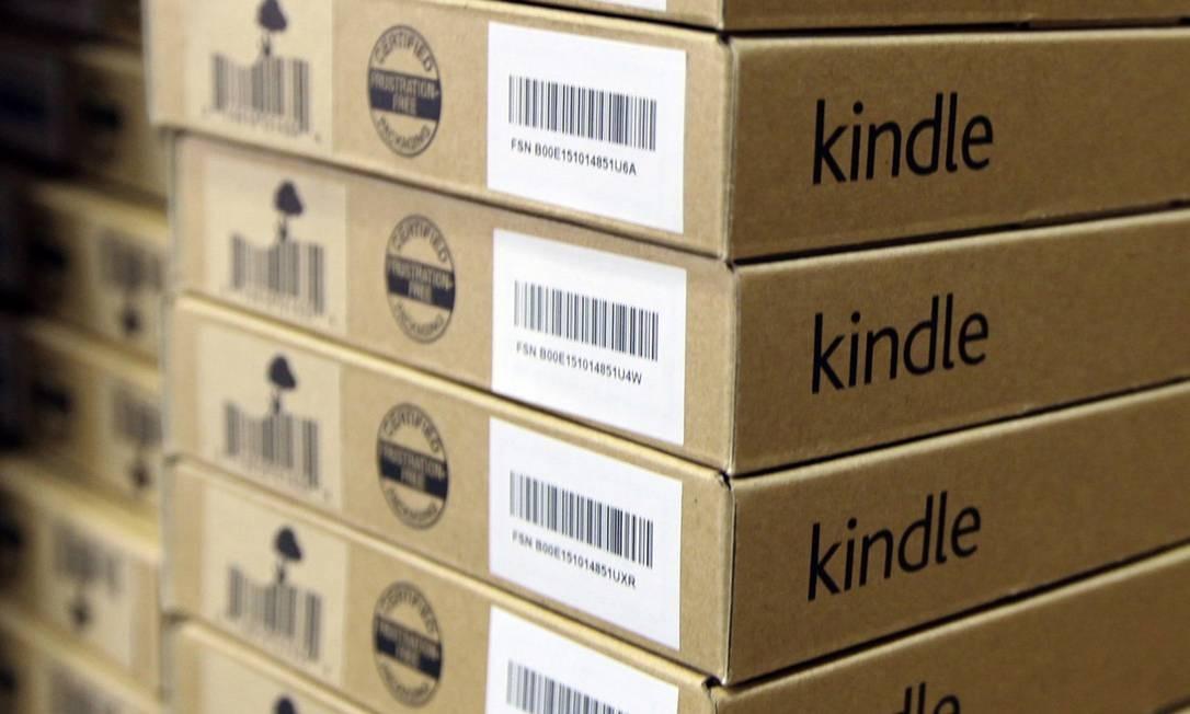 Gigante amarrada. Amazon, dona do Kindle, segue os preços do mercado Foto: Chris Ratcliffe/Bloomberg
