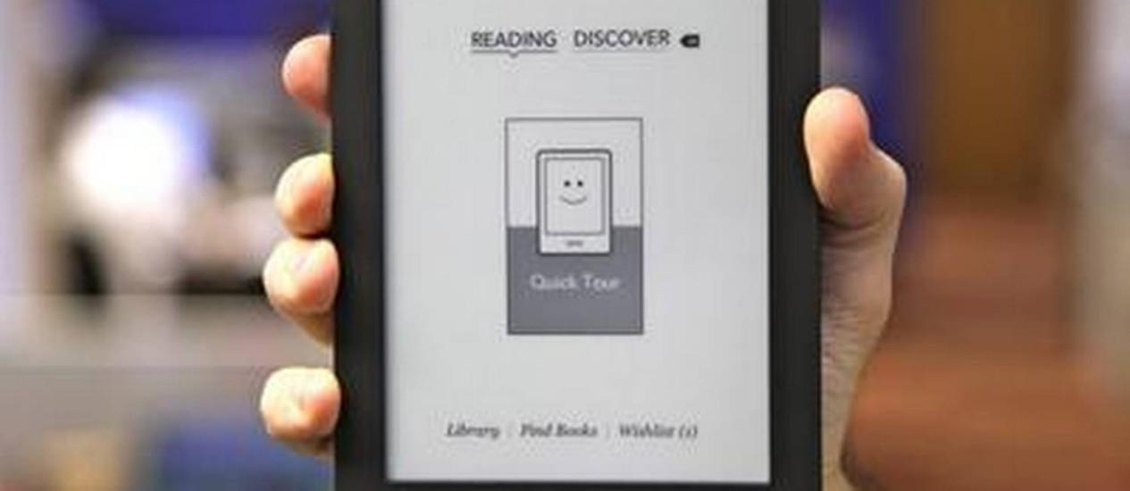 Diferenças. Kindle, da Amazon, é mais barato, mas Kobo é mais moderno Foto: Divulgação
