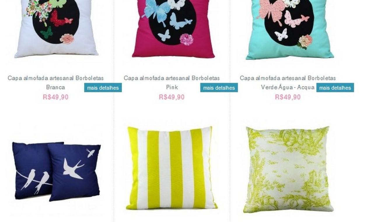 Almofadas são um dos pontos fortes da Boutique de Achados Foto: Reprodução internet