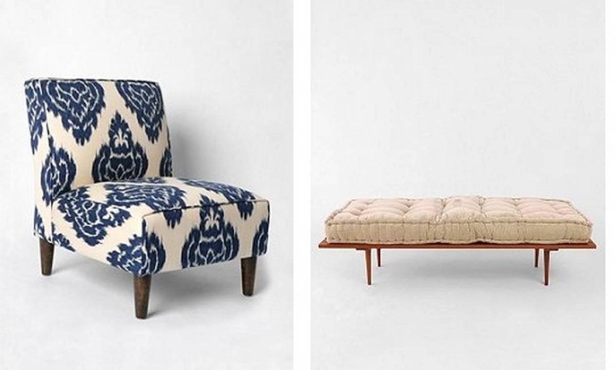 O site americano Urban Outfitters conta com uma variada seleção de peças. A taxa de entrega para o Brasil pode sair por até US$ 40 (R$ 84) Foto: Reprodução internet
