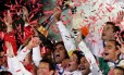 Jogadores do Inter comemoram a conquista do Mundial de Clubes de 2006