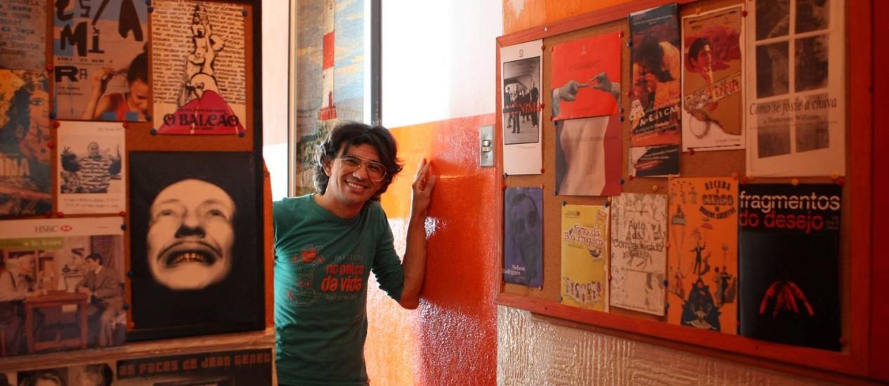Wal Schneider, criador do projeto social em Ramos Foto: Eduardo Naddar