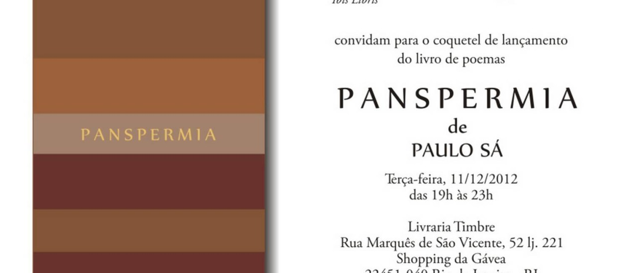 Excepcional Panspermia: a poesia da ciência e a ciência da poesia - Jornal O Globo FF42