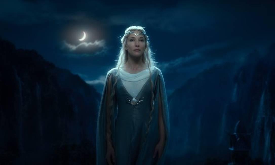 Galadriel (Cate Blanchett), a Senhora de Lothlórien, a mais sábia entre todos os elfos da Terra-Média Reprodução
