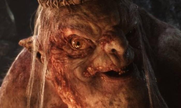 O Grande Goblin (Barry Humphries), líder dos orcs sob a Montanha da Névoa Reprodução