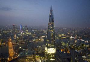 The Shard, o edifício mais alto do país, terá atrações para visitantes em Londres em 2013 Foto: Visit Britain/Divulgação
