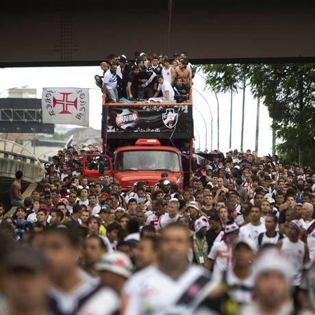 O Vasco comemorou o título da Copa do Brasil em 2011 Foto: Alexandre Cassiano / O Globo