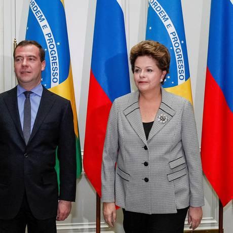 Dilma Rousseff se reúne nesta sexta-feira com o Primeiro-Ministro da Federação Russa, Dmitri Medvedev Foto: Divulgação