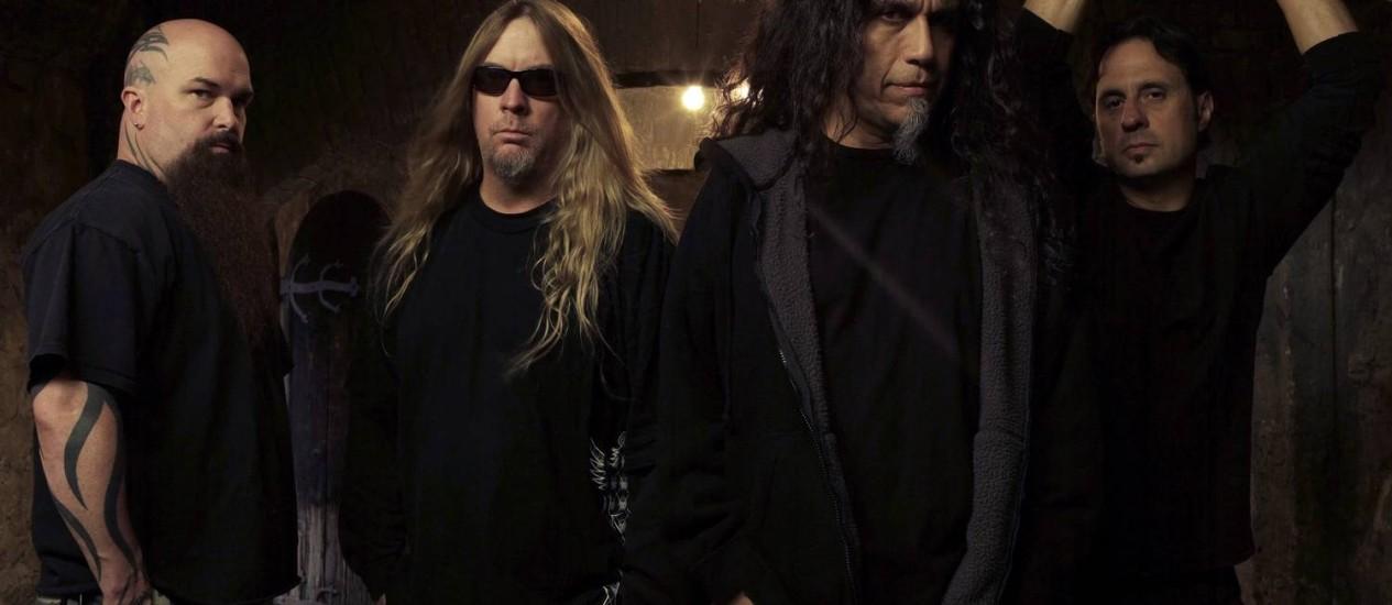 O guitarrista Kerry King (à esquerda): 'As exigências técnicas do som do Slayer são comparáveis às do jazz' Foto: Divulgação/Mark Seliger