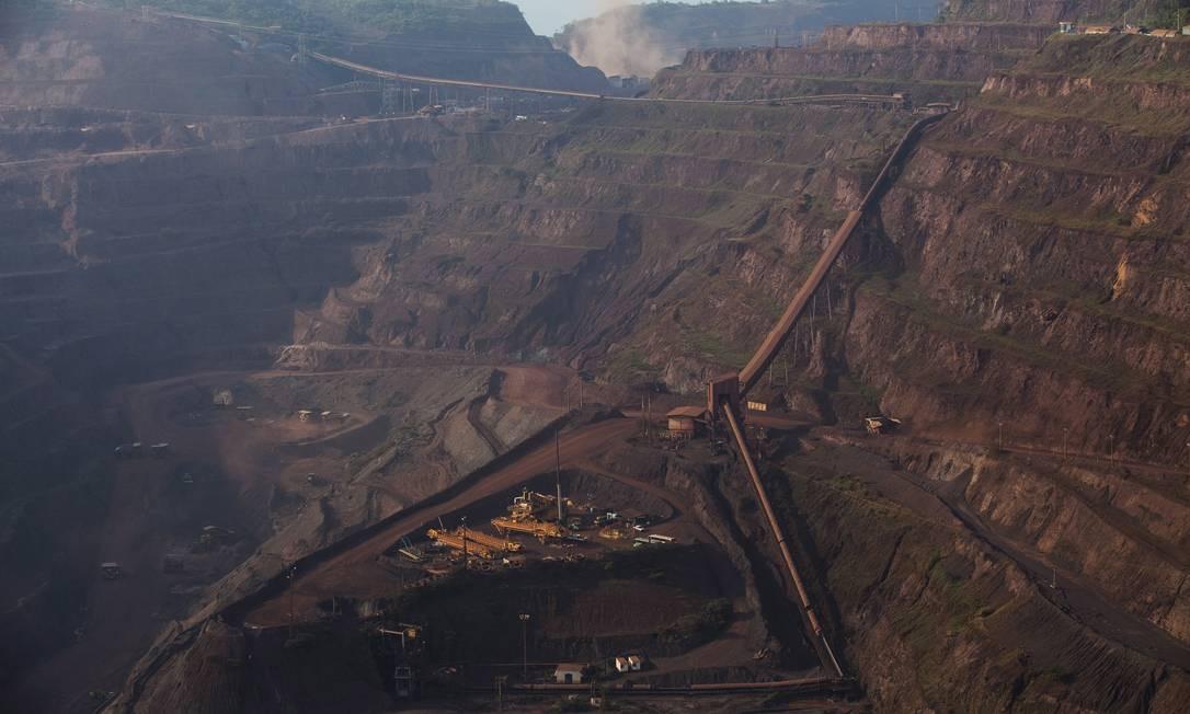 A mineração de ferro em Carajás pode ser ampliada com a destruição de grutas amazônicas Foto: The New York Times/Lalo de Almeida