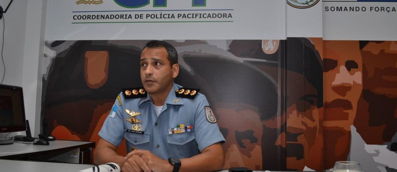 O novo comandante das UPPs, coronel Paulo Henrique Azevedo de Moraes Foto: Divulgação / PM