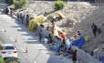 Usuários de crack montam acampamento no Parque União, no Complexo da Maré, onde a prefeitura já realizou diversas ações de acolhimento