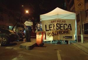 Blitz da Lei Seca no Rio de Janeiro Foto: Divulgação