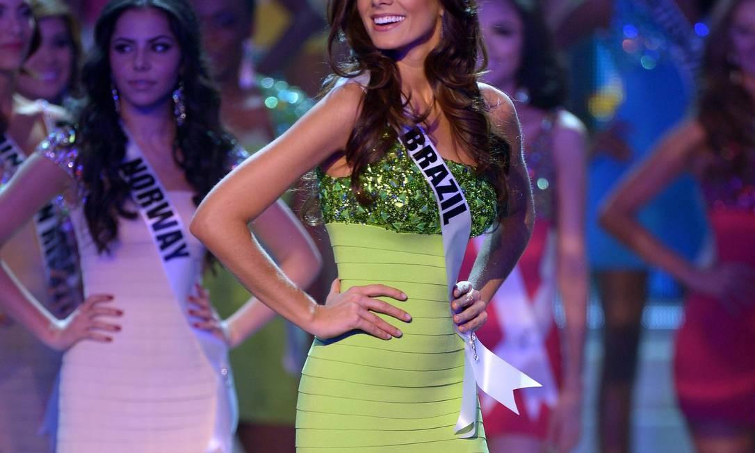 A Miss Brasil, a gaúcha Gabriela Markus, ficou em quinto lugar no concurso Foto: Joe Klamar / AFP