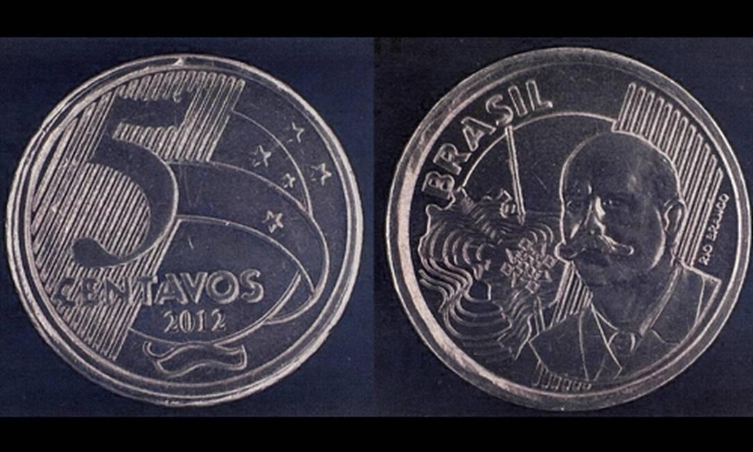 Moeda de R$ 0,50 foi cunhada por engano com valor de face de R$ 0,05 Foto: Divulgação / Banco Central