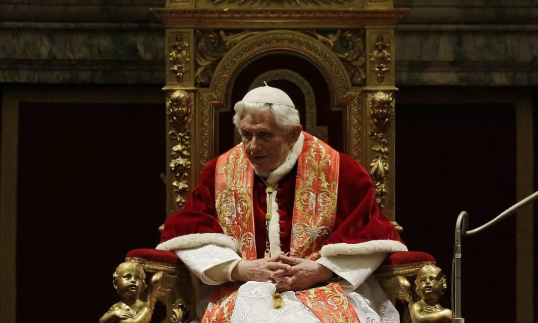Discurso d eNatal foi proferido a funcionários do Vaticano no Salão Clementine Foto: Alessandra Tarantino / AP