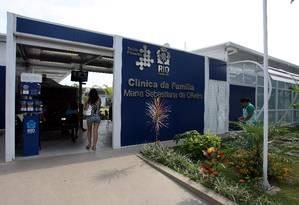 Cobertura . Clínica da Família Maria Sebastiana de Oliveira, na Ilha do Governador Foto: O Globo / Felipe Hanower