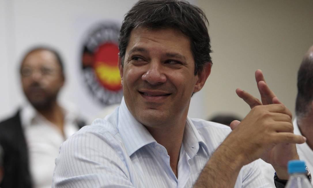O prefeito eleito de São Paulo, Fernando Haddad, assume na tarça-feira Foto: Michel Filho / Arquivo O Globo