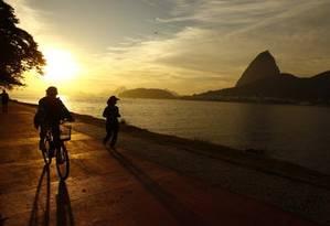 Vista do Pão de Açúcar do Parque do Flamengo, na Zona Sul; local é indicado por visitantes do TripAdvisor Foto: Pablo Jacob 11/07/2012 / O Globo