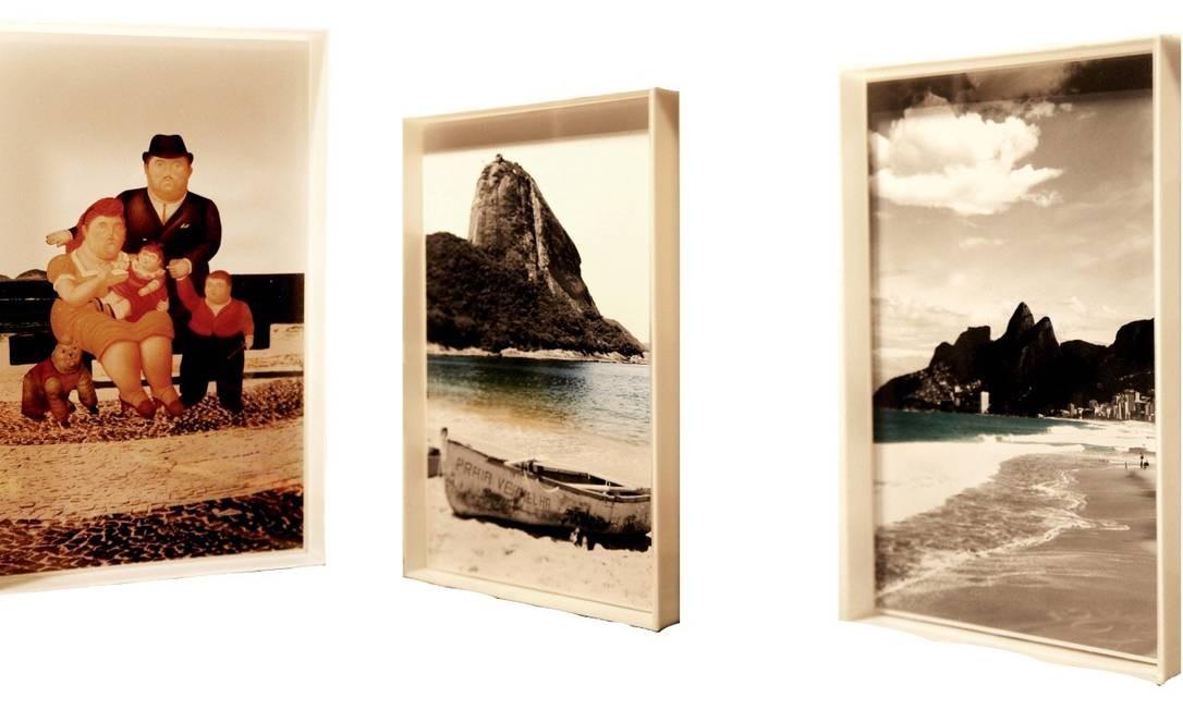 Coleção. Almir Reis cria série de caixas de acrílico no tamanho 20cmx30cm, com paisagens do Rio