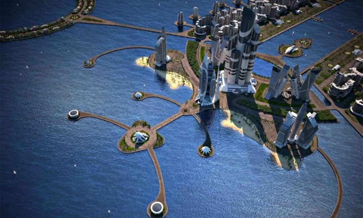 O prédio será o mais alto do mundo, com seus 1,50 metros e altura e 189 andares Foto: Reprodução internet
