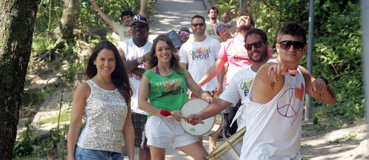 Integrantes do Carrossel de Emoções, que misturam samba e funk Foto: O GLOBO / Pedro Teixeira